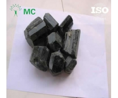 Natural black rough tourmaline