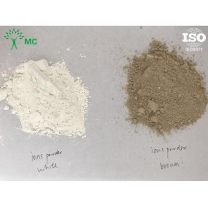 Negative ion powder for ceramic tiles